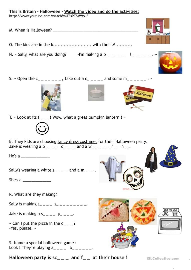 This Is Britain - Halloween Worksheet - Free Esl Printable - Free Printable French Halloween Worksheets
