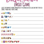 This Printable Bridal Shower Emoji Game Is One Of The Best And   Emoji Bridal Shower Game Free Printable