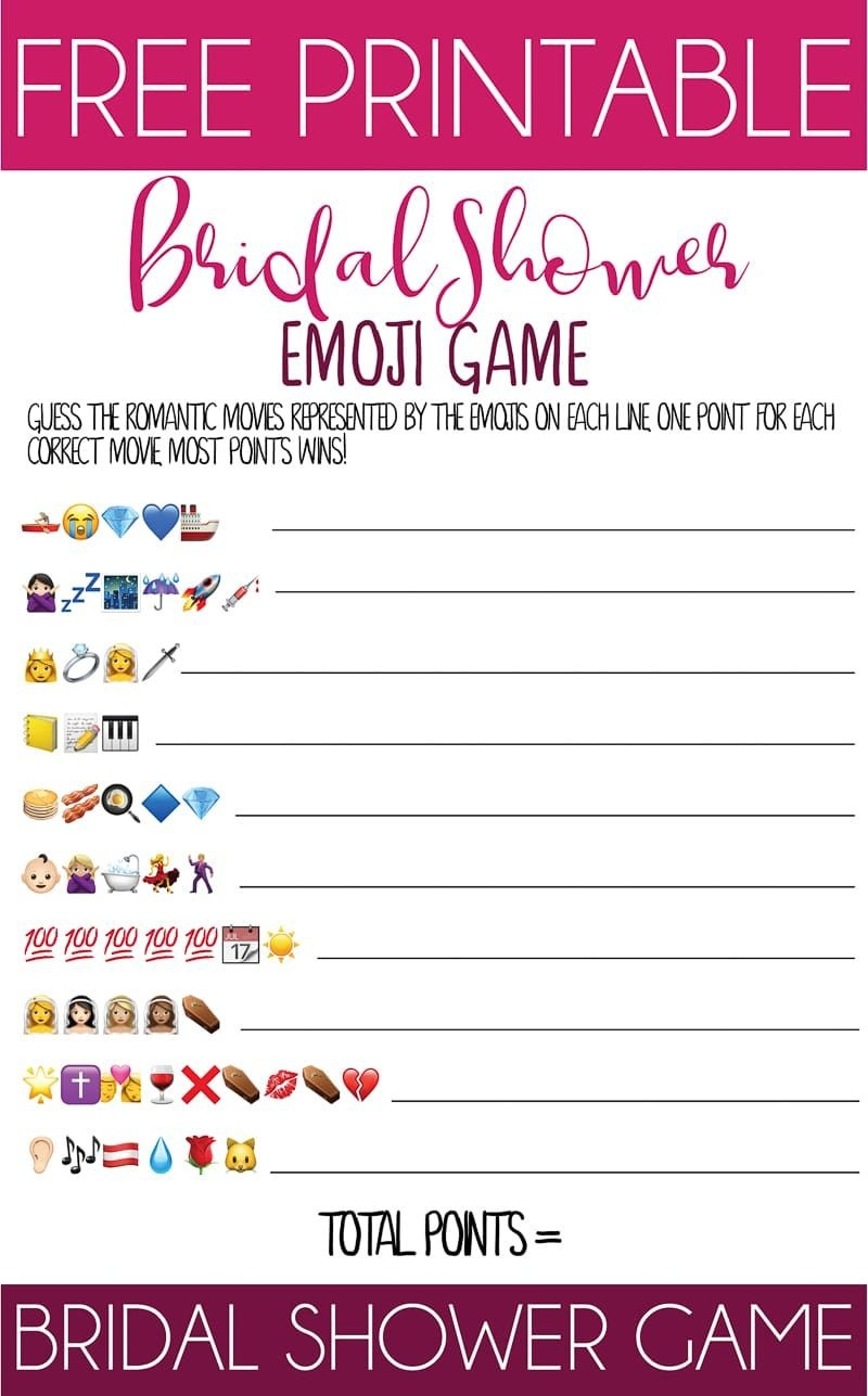 This Printable Bridal Shower Emoji Game Is One Of The Best And - Emoji Bridal Shower Game Free Printable