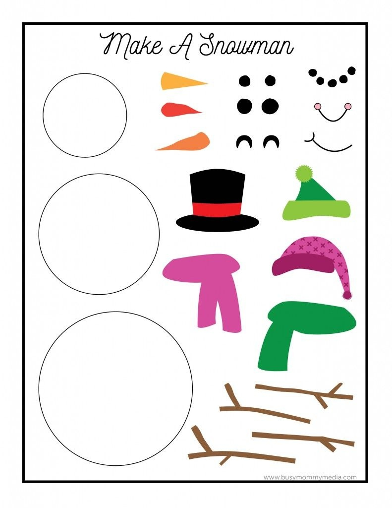 This Printable Snowman Craft Is So Much Fun For Kids! | Activities - Free Printable Crafts For Preschoolers