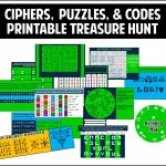 This Printable Treasure Hunt Is All About Ciphers, Puzzles, And   Free Printable Escape Room Puzzles