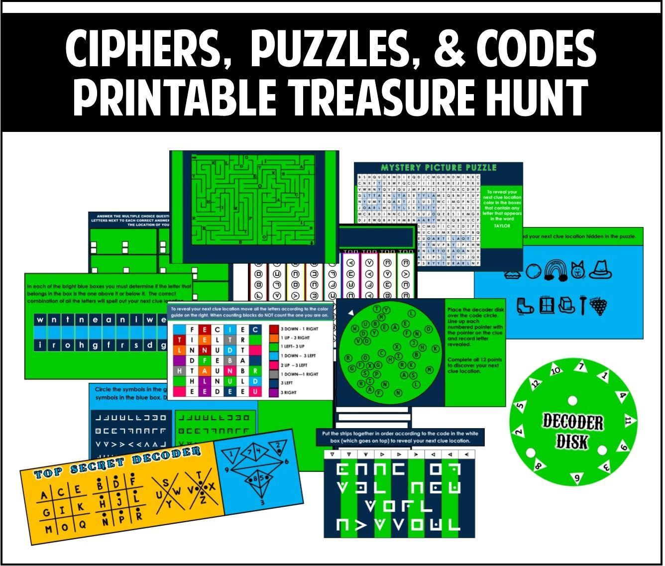 This Printable Treasure Hunt Is All About Ciphers, Puzzles, And - Free Printable Escape Room Puzzles