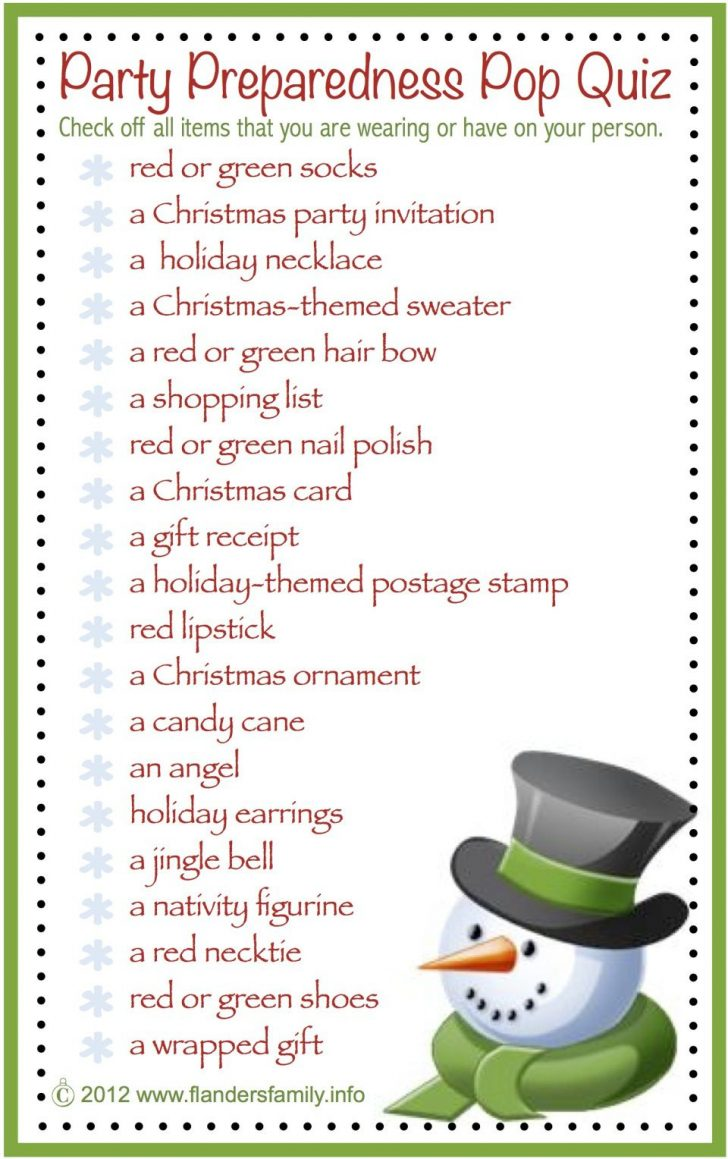 Free Printable Christmas Games For Family Gatherings