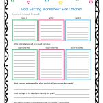 This Worksheet And Free Printable Helps Children Learn How To Set   Free Printable Social Skills Activities Worksheets