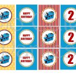 Thomas The Train Diy Printable Cupcake Toppers Blue Yellow And Red   Free Printable Thomas The Train Cupcake Toppers
