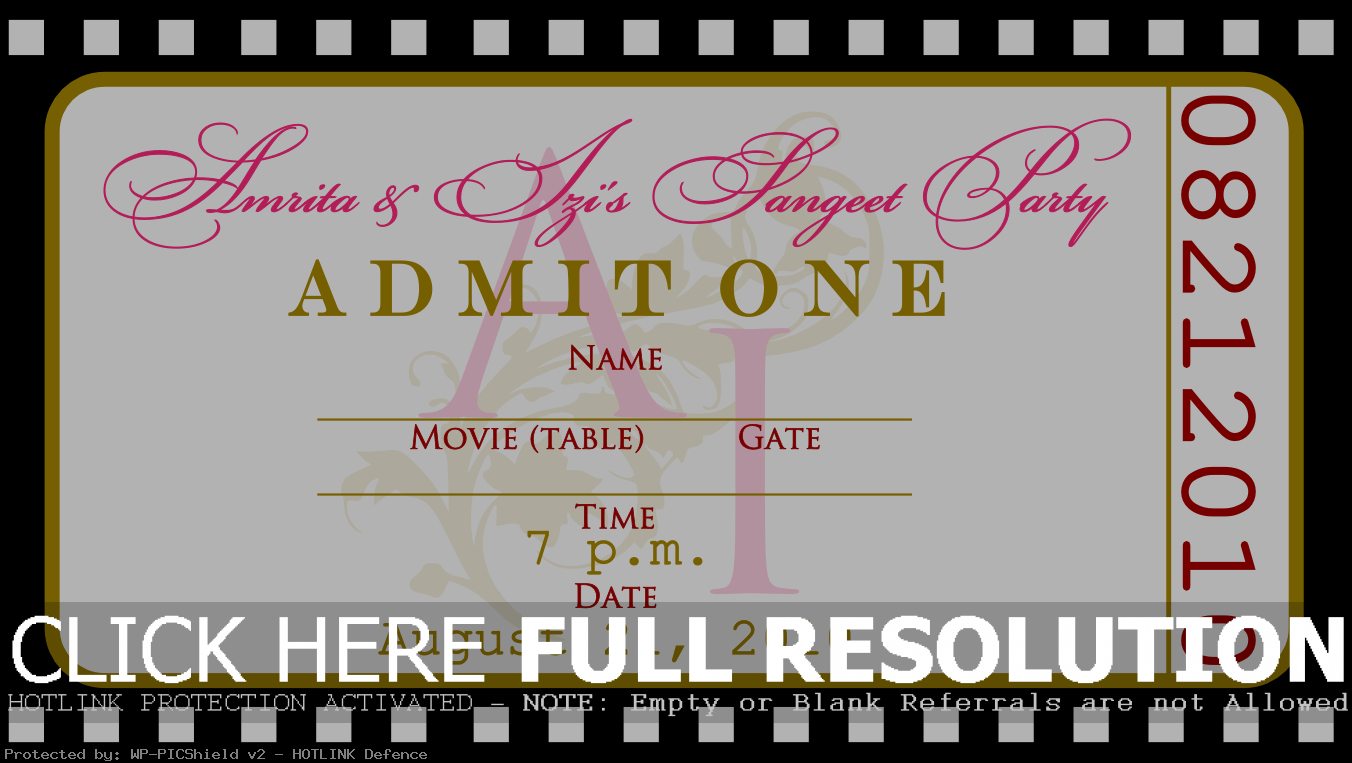 Ticket Invitation Maker - Kaza.psstech.co - Free Printable Ticket Invitations