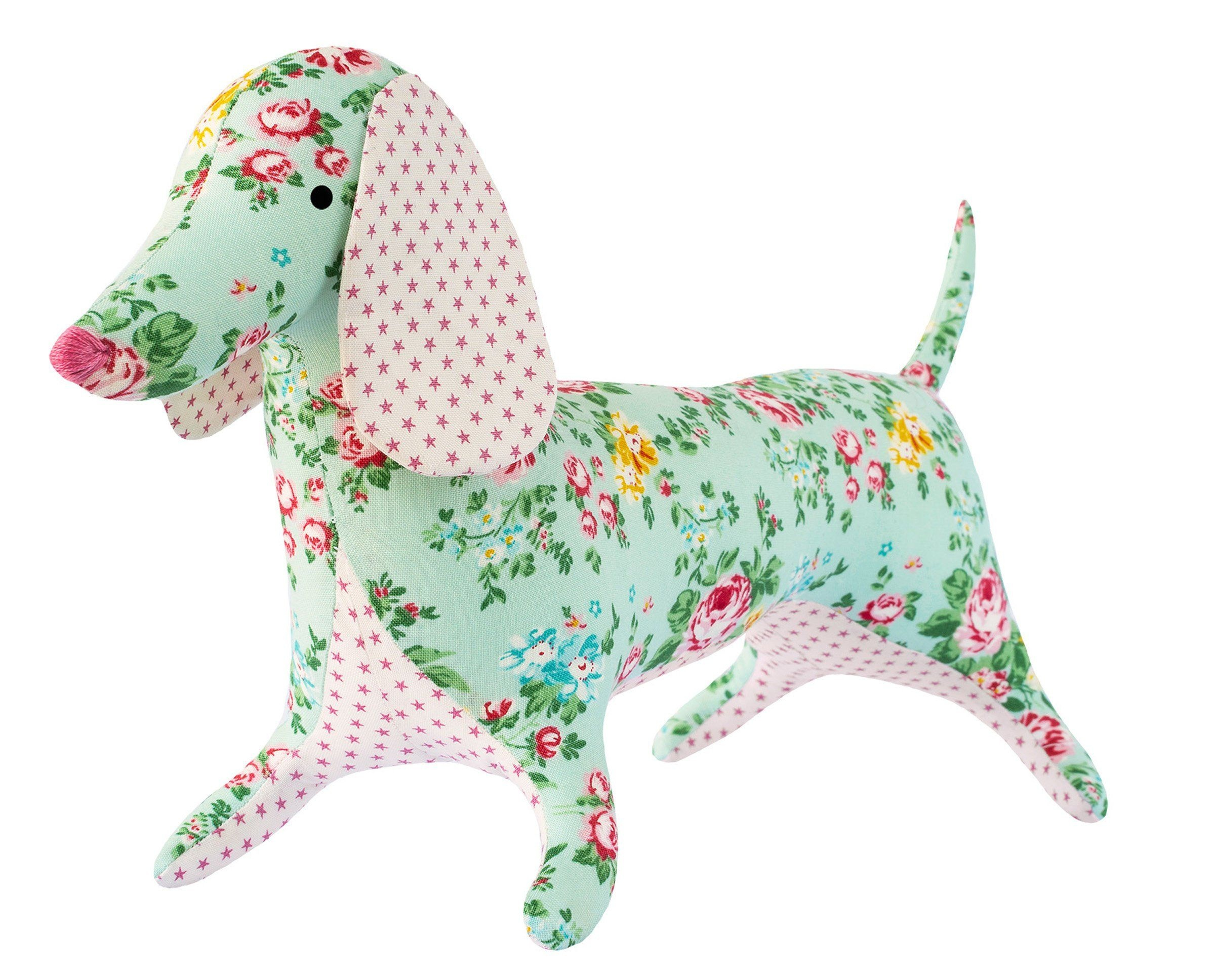 "Tilda Apple Butter Dapper Dachshund Sewing Kit | 24"" Tall 