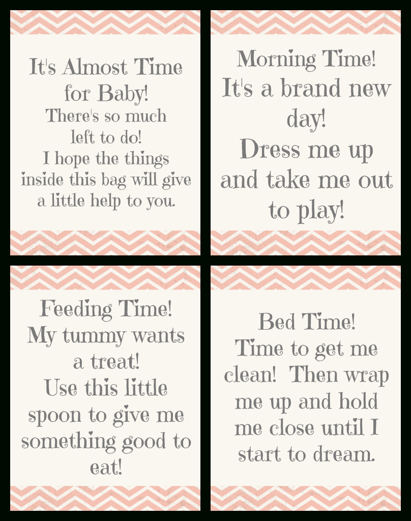"""Time For Baby"""" Shower Gift + Free Printable Gift Tags 