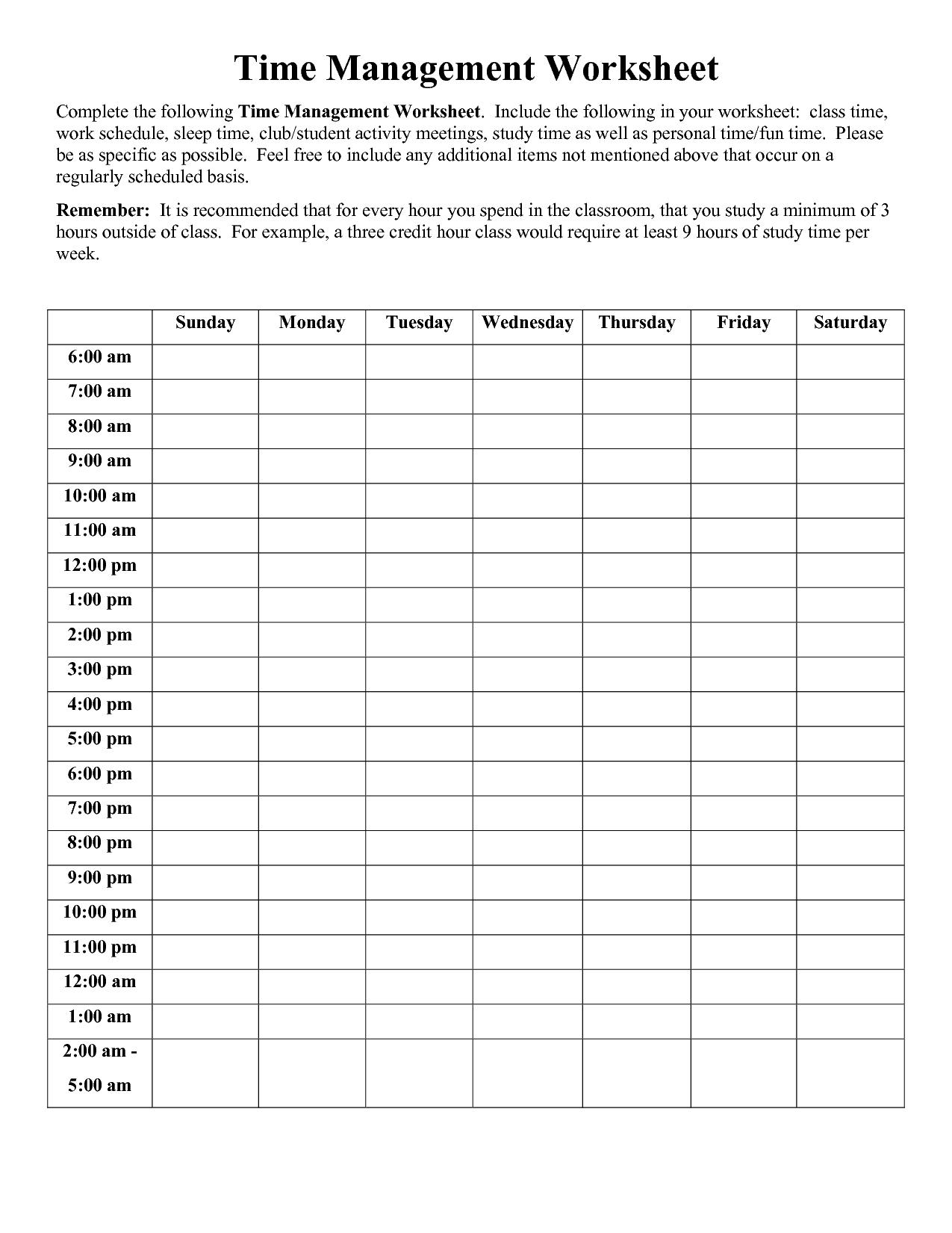 Time Management Worksheet Pdf | Sophia | Time Management Worksheet - Free Printable Time Tracking Sheets