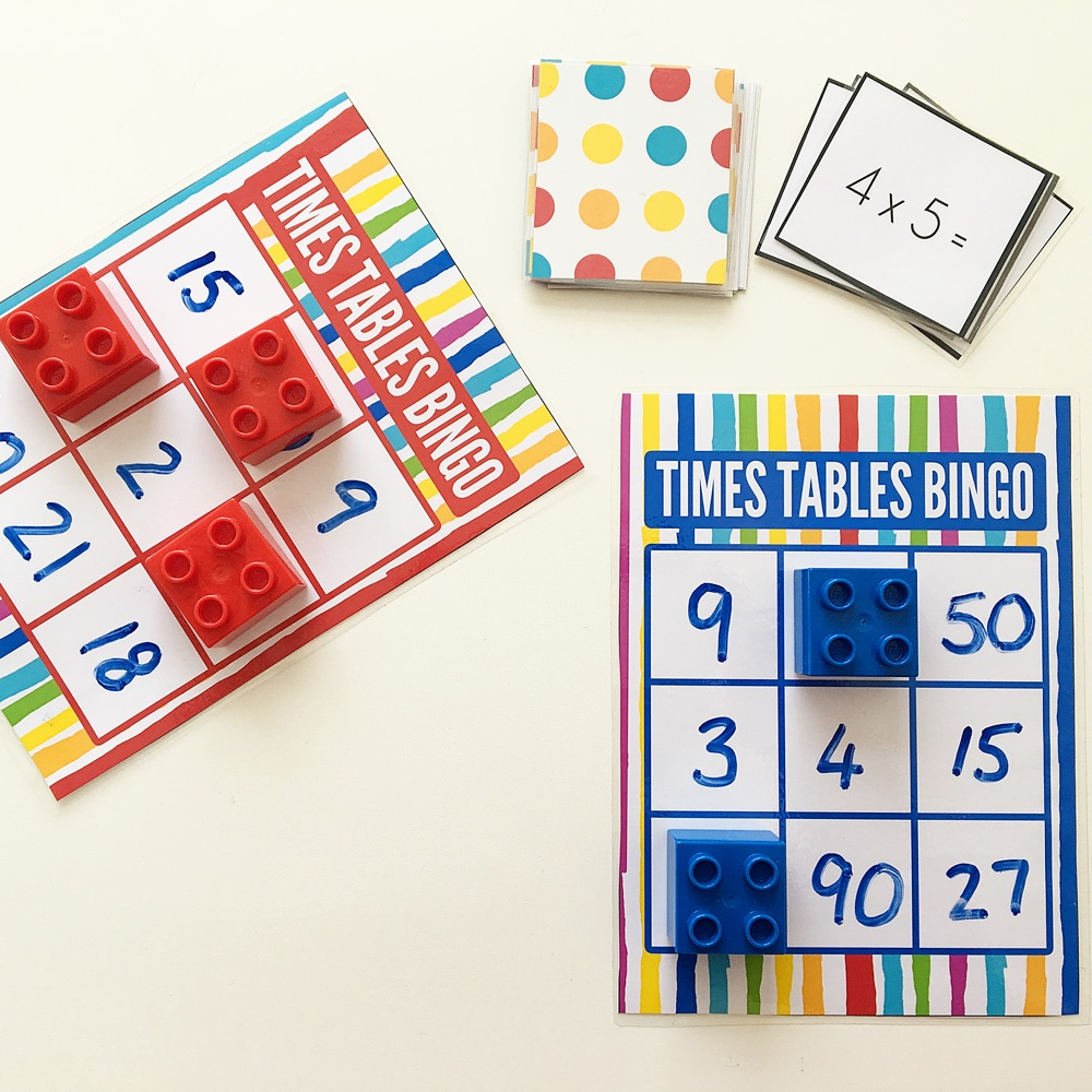 Times Table Bingo For Learning Multiplication. Free Printable. - Free Printable Multiplication Bingo