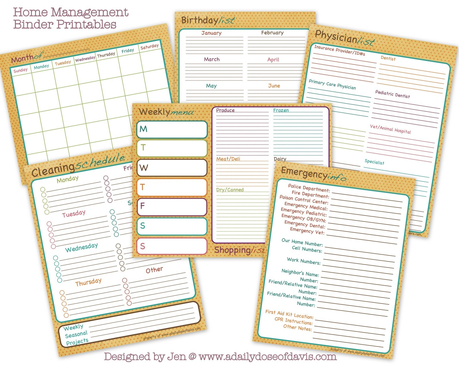 Tips For Creating Your Home Management Binder – Life More Simply - Free Home Organization Binder Printables