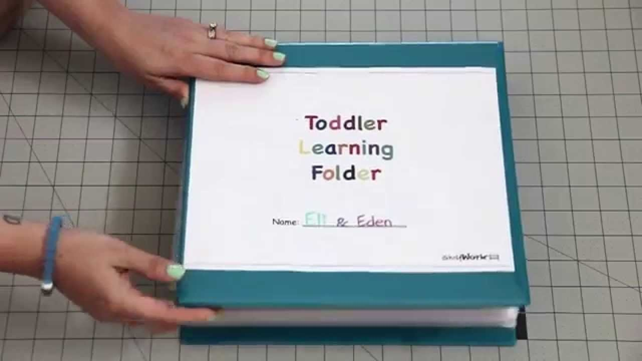 Toddler Learning Folder! - Youtube - Jady A Free Printables