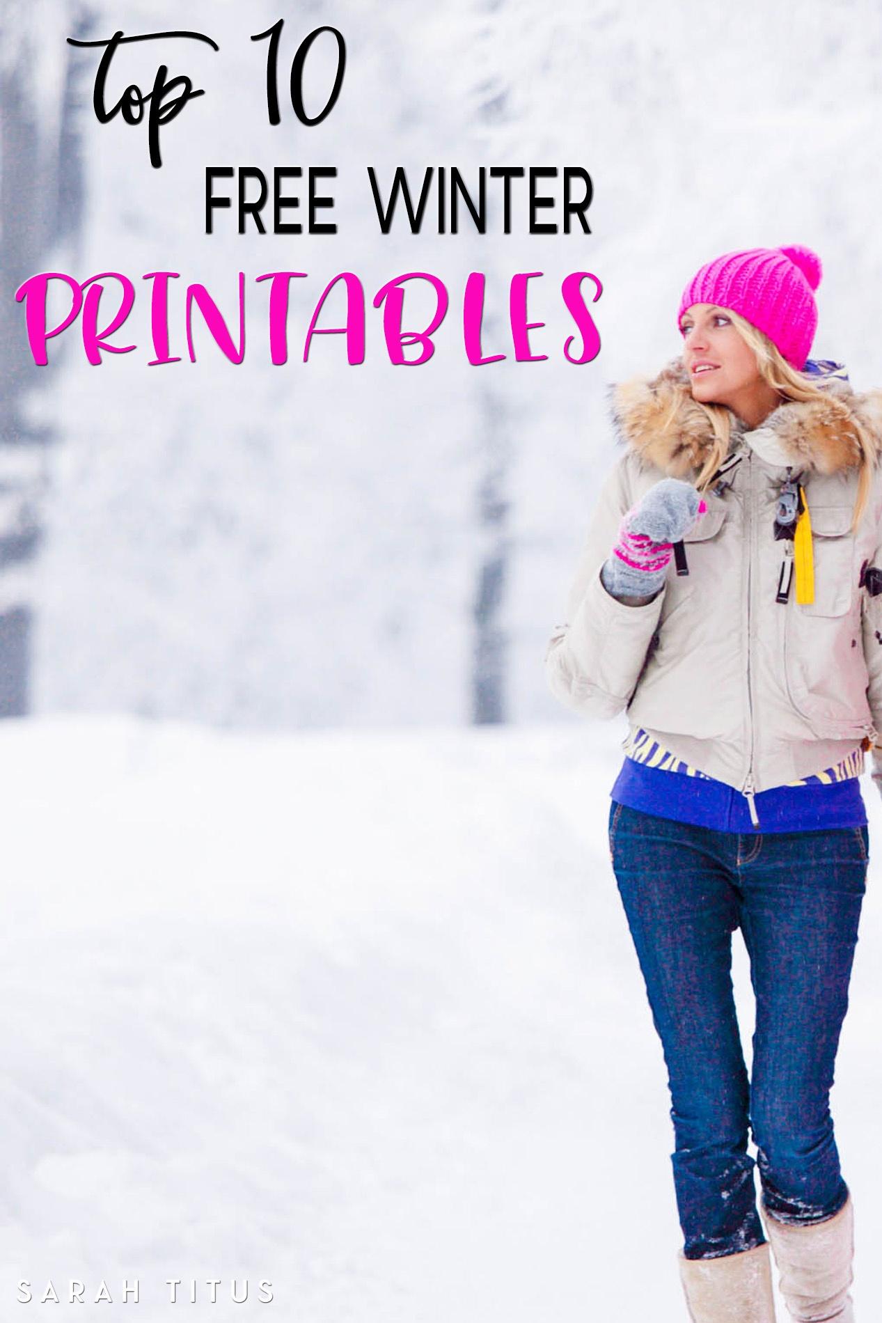 Top 10 Free Winter Printables - Sarah Titus - Free Printable Winterization Stickers