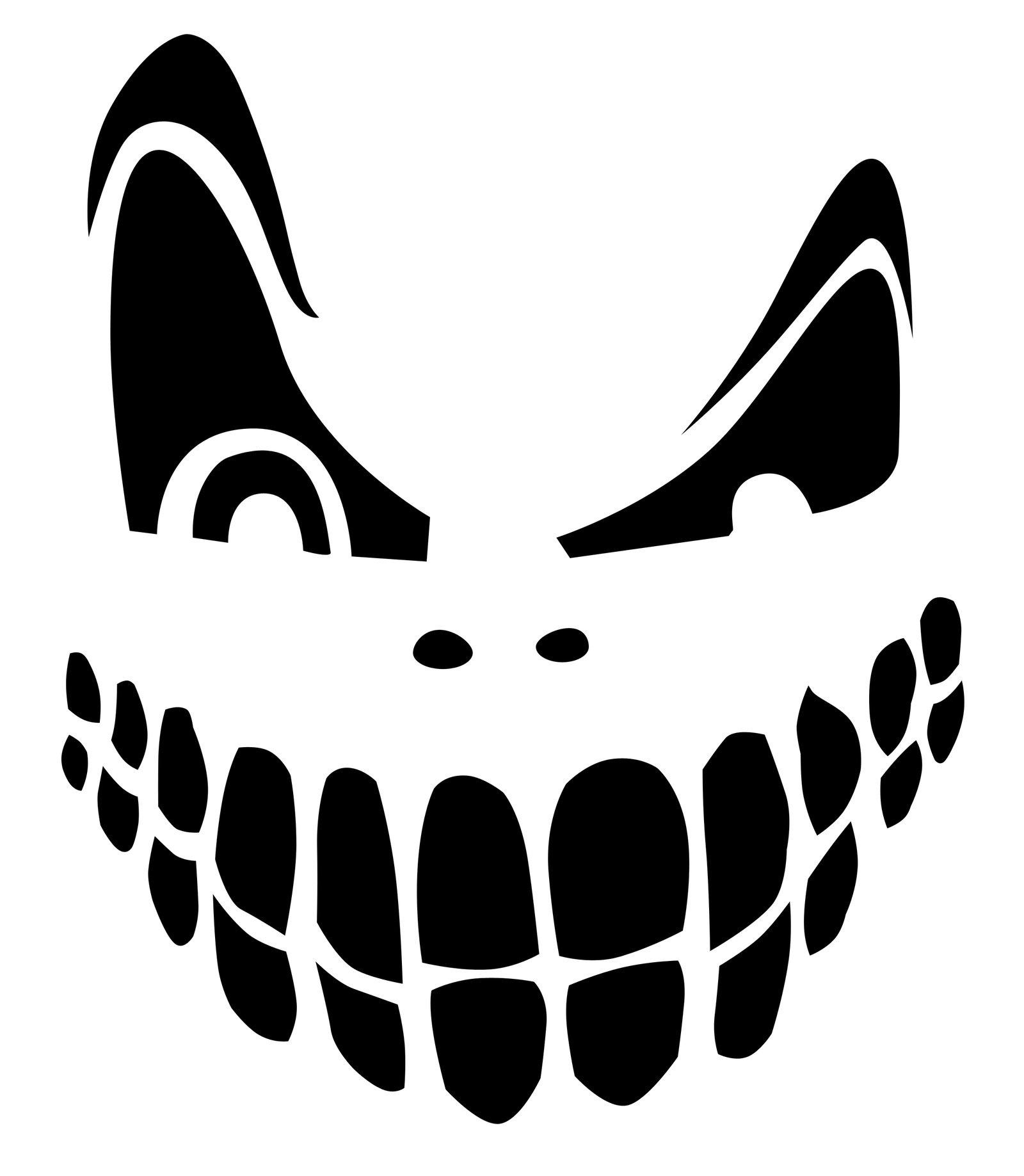 Top 100+ Jack O Lantern Faces Patterns Stencils Ideas | Halloween - Pumpkin Patterns Free Printable