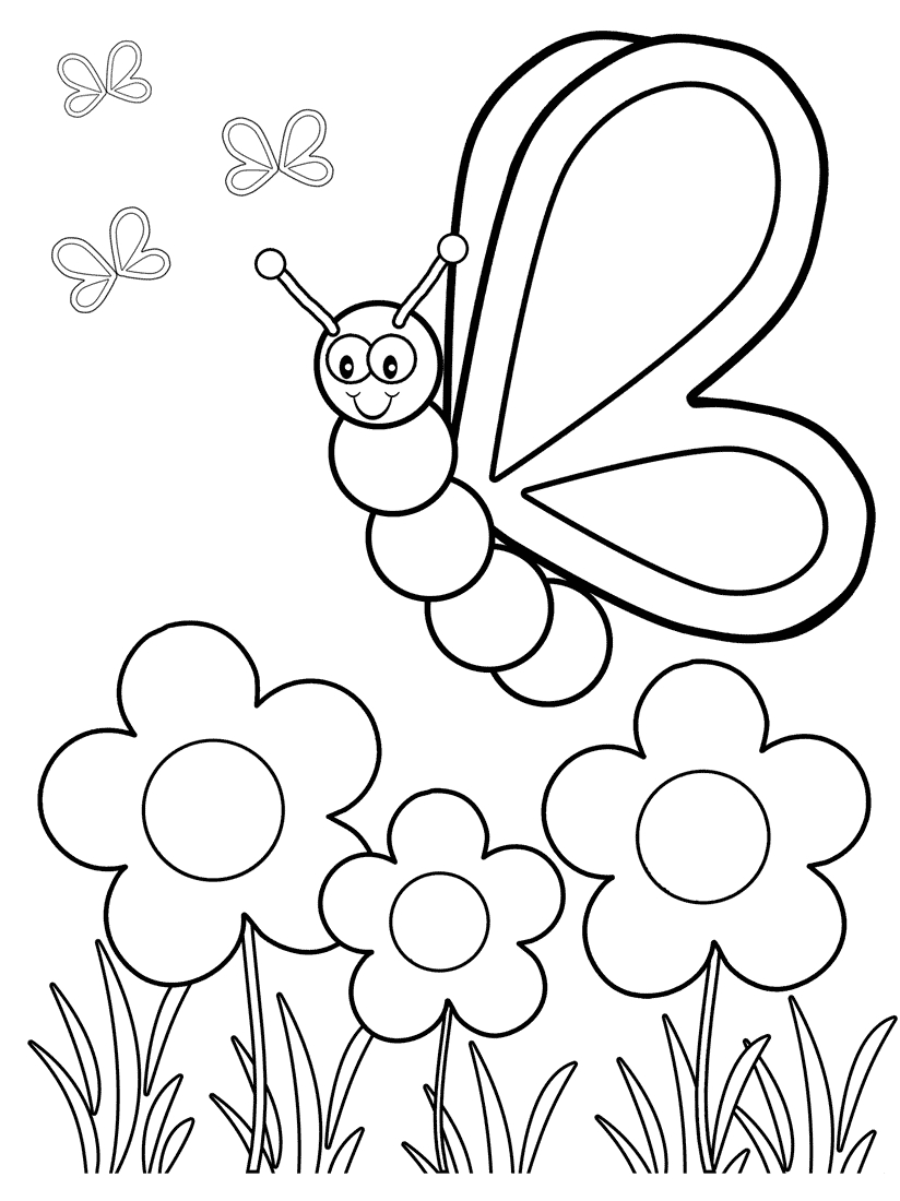 Top 50 Free Printable Butterfly Coloring Pages Online | Coloring - Free Printable Spring Coloring Pages For Kindergarten