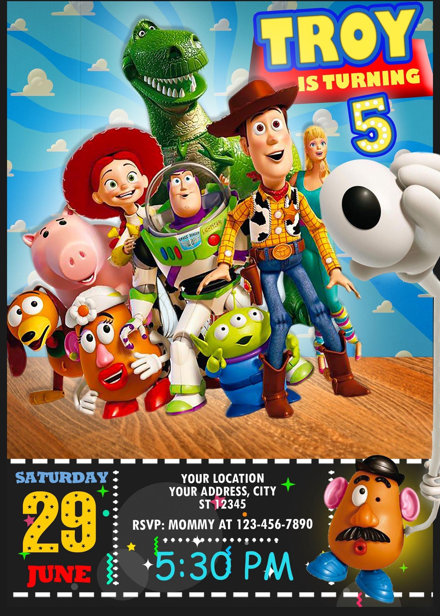 Toy Story 4 Birthday Invitation In 2019 | Oscarsitosroom | Toy Story - Toy Story Birthday Card Printable Free