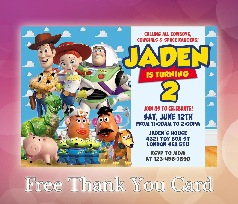 Toy Story Invitation / Toy Story Birthday Invitation / Toy | Etsy - Toy Story Birthday Card Printable Free