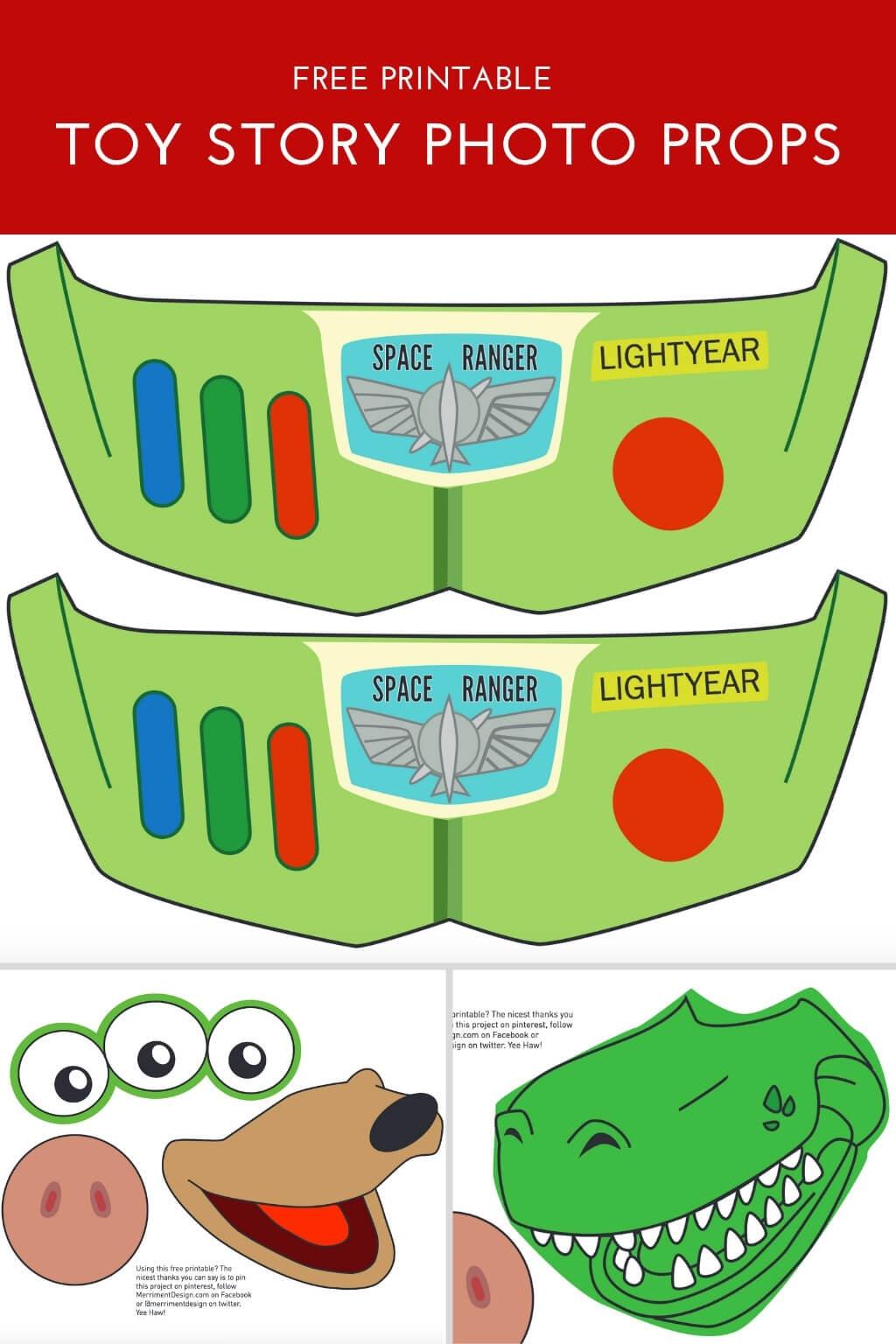 Toy Story Photo Booth Props {Free Printable Pdf} - Merriment Design - Free Photo Booth Props Printable Pdf