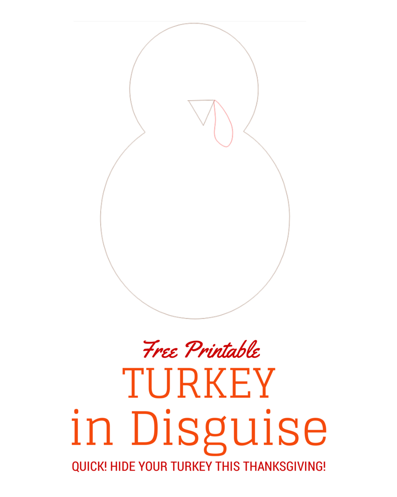 Turkey In Disguise Free Printable Template | Kid Blogger Network - Free Printable Turkey Craft