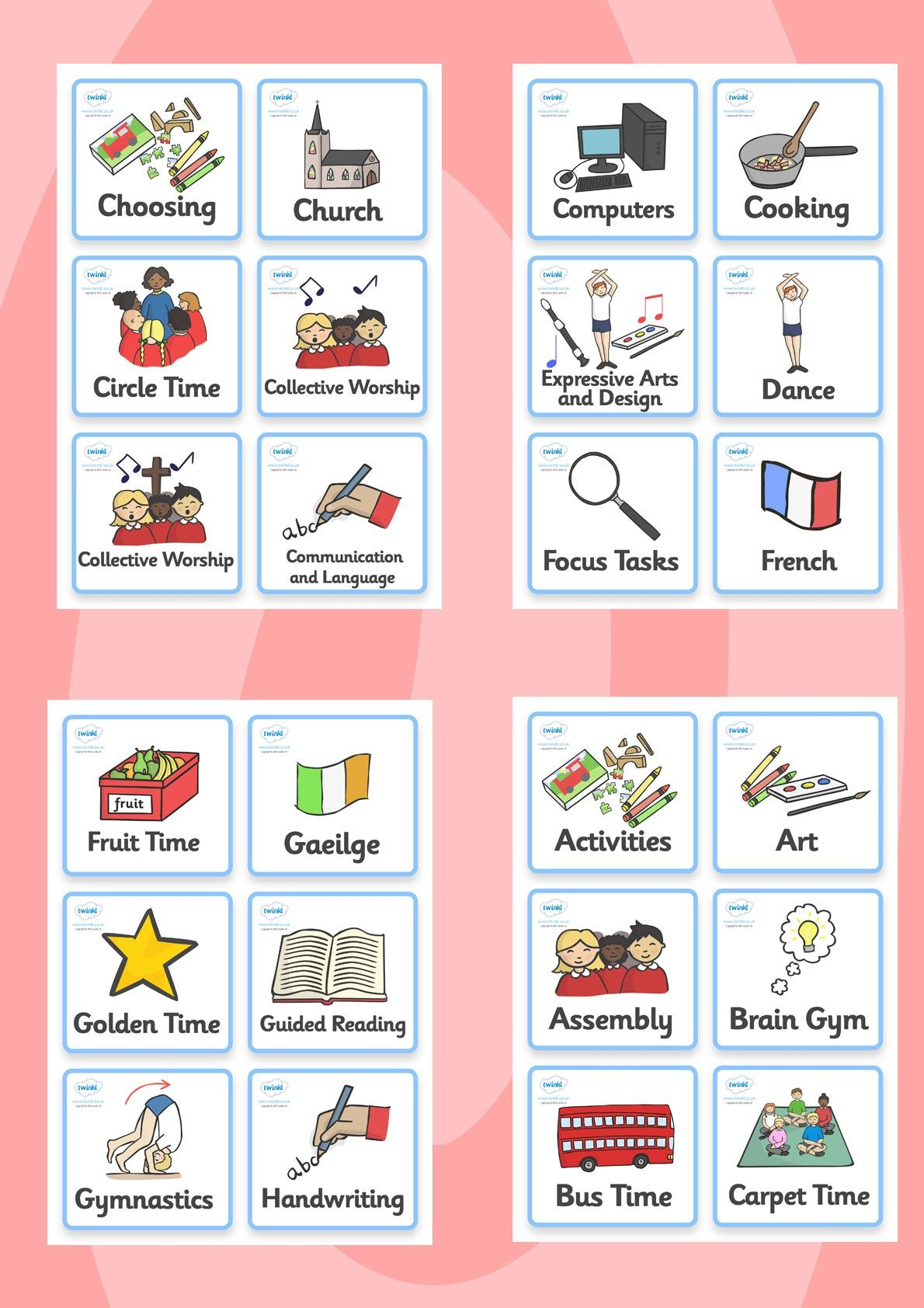Twinkl Resources >> Visual Timetable- Nursery Fs2 >> Printable - Free Printable Visual Schedule For Classroom
