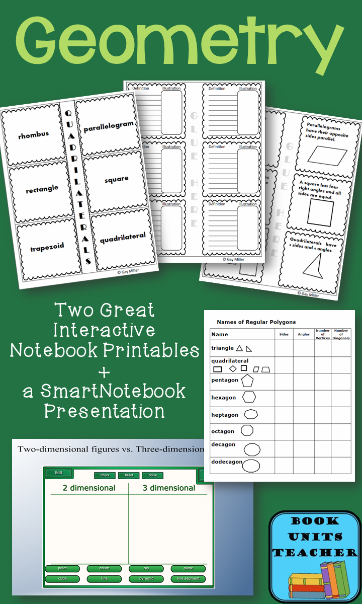Two Geometry Bulletin Boards | Math | Geometry Interactive Notebook - Free Interactive Notebook Printables