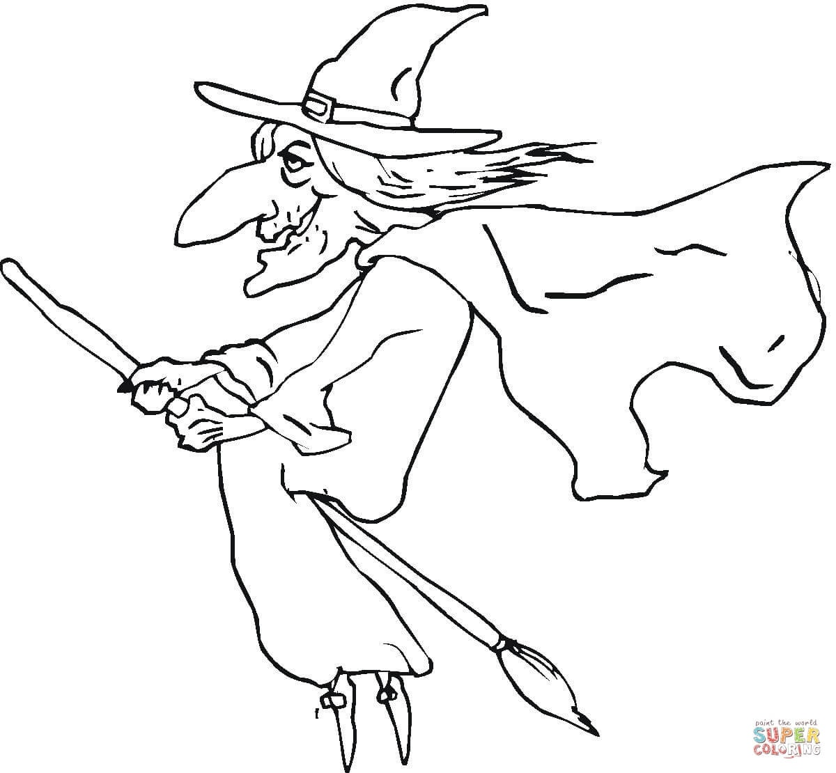 Ugly Old Witch Coloring Page | Free Printable Coloring Pages - Free Printable Pictures Of Witches