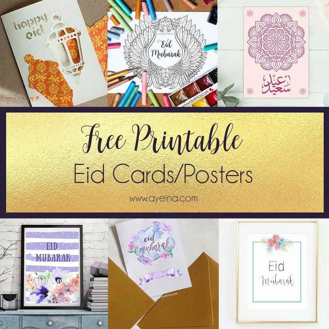 Ultimate List Of Free Eid Printables (Updated: 2019) | Islamic - Eid Cards Free Printable
