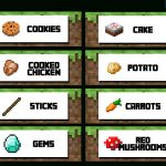 Ultimate Minecraft Party Printable Food Labels   Mixedstew   Free Printable Minecraft Food Labels