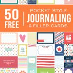 Ultimate Roundup Of Free Journaling + Filler Card Printables   Free Printable Picture Cards