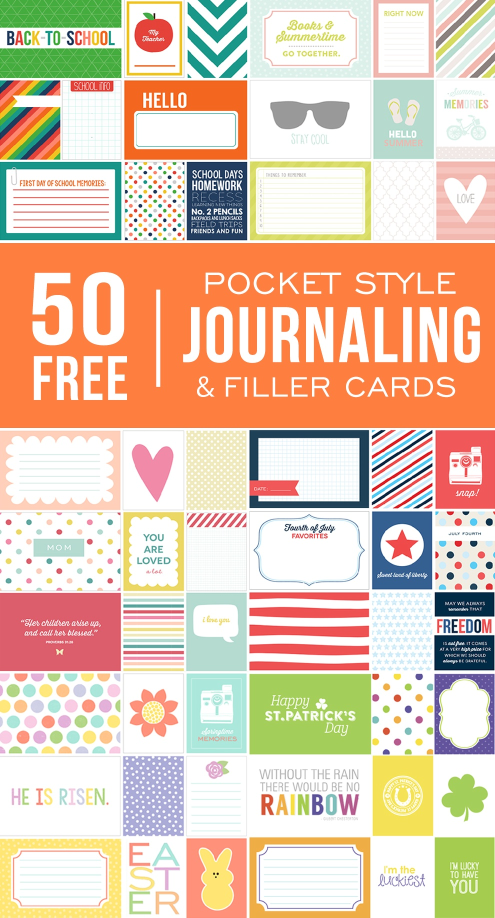 Ultimate Roundup Of Free Journaling + Filler Card Printables - Free Printable Picture Cards