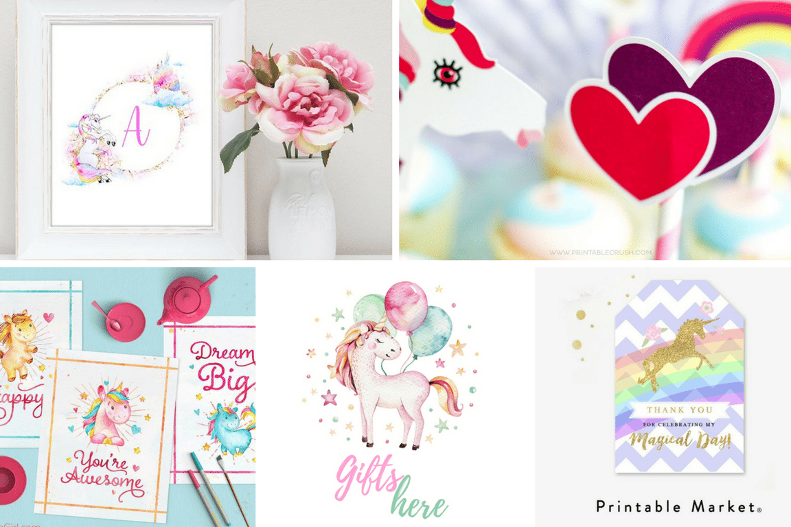 Unicorn Party Free Printables | Best Of Pinterest - Tinselbox - Free Unicorn Party Printables
