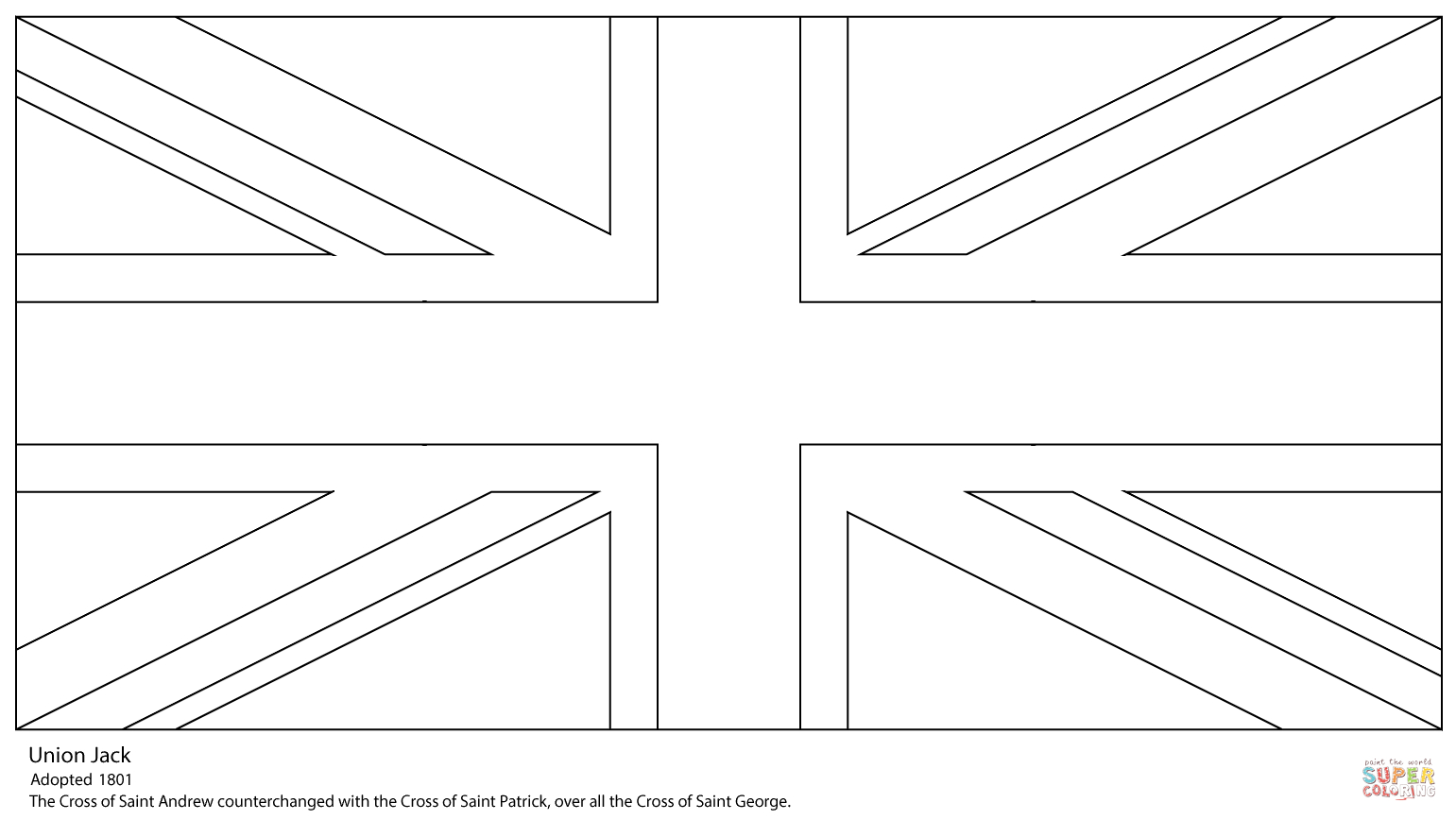 Union Jack Coloring Page | Free Printable Coloring Pages - Free Printable Union Jack Flag To Colour