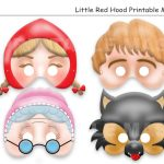 Unique Little Red Riding Hood Tale Printable Masks Wolf | Etsy   Little Red Riding Hood Masks Printable Free