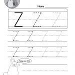 Uppercase Letter Z Tracing Worksheet   Doozy Moo   Letter Z Worksheets Free Printable