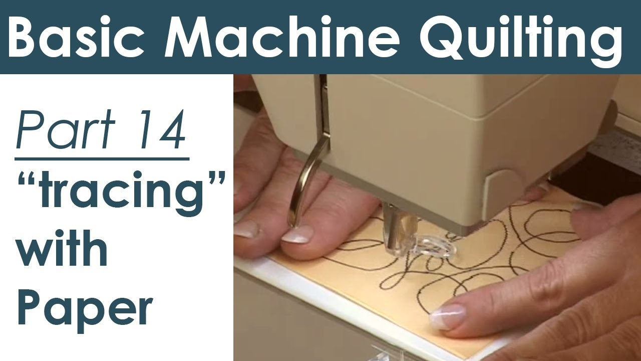 Using Paper Templates For Machine Quilting - Youtube - Free Printable Quilting Stencils