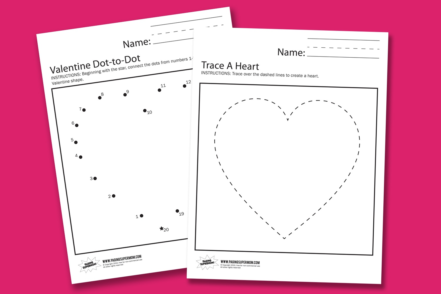 Valentine Worksheets - Paging Supermom - Free Printable Valentine Worksheets For Preschoolers