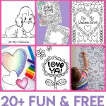 Valentines Coloring Pages   Happiness Is Homemade   Free Valentine Printables