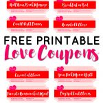 Valentine's Day Free Printable Love Coupons   Sparkles Of Sunshine   Free Printable Coupons 2018