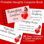 Valentine's Day Gift For Him: Sexy Printable Naughty Coupons Book   Free Printable Kinky Coupons For Him