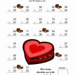 Valentines Day Math Worksheets Th Grade Valentine For Kinder On Free   Free Valentine Math Worksheets And Printables