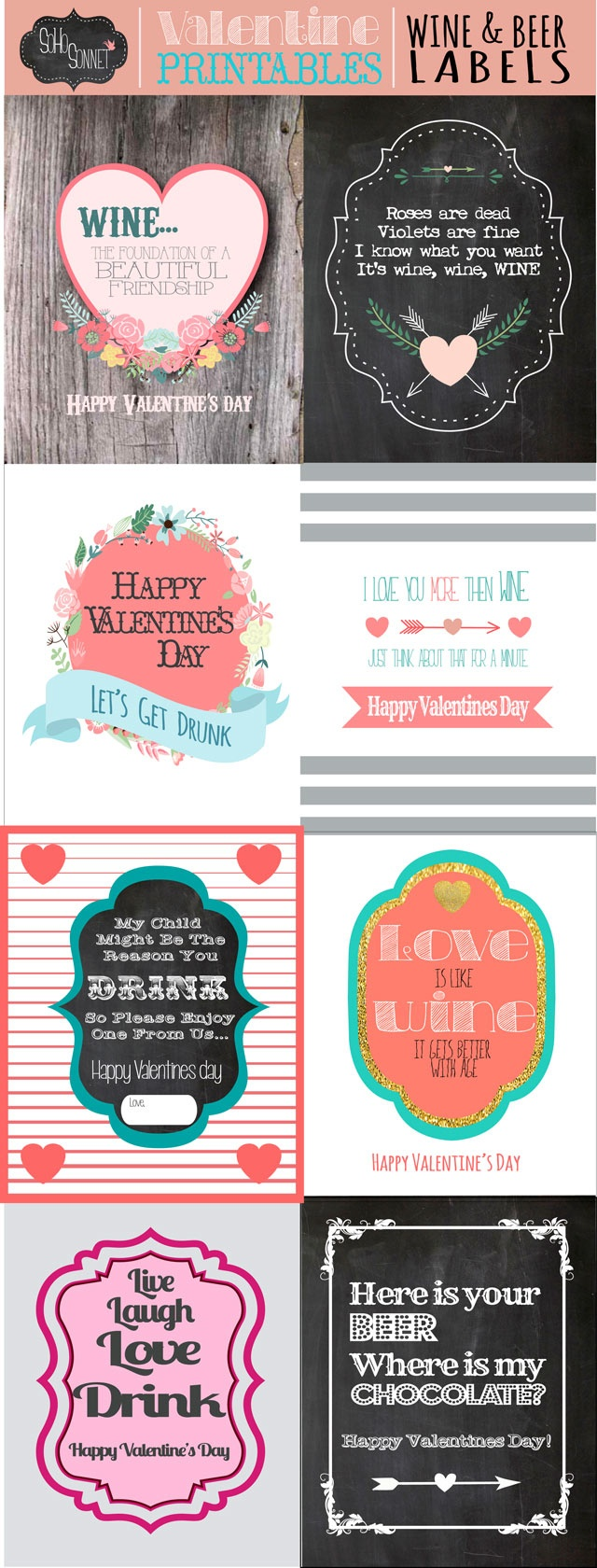 Valentines Day Wine And Beer Gift Labels - Sohosonnet Creative Living - Free Beer Printables