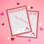 Valentine's Day Word Search Printable   Happiness Is Homemade   Free Printable Valentine Word Games