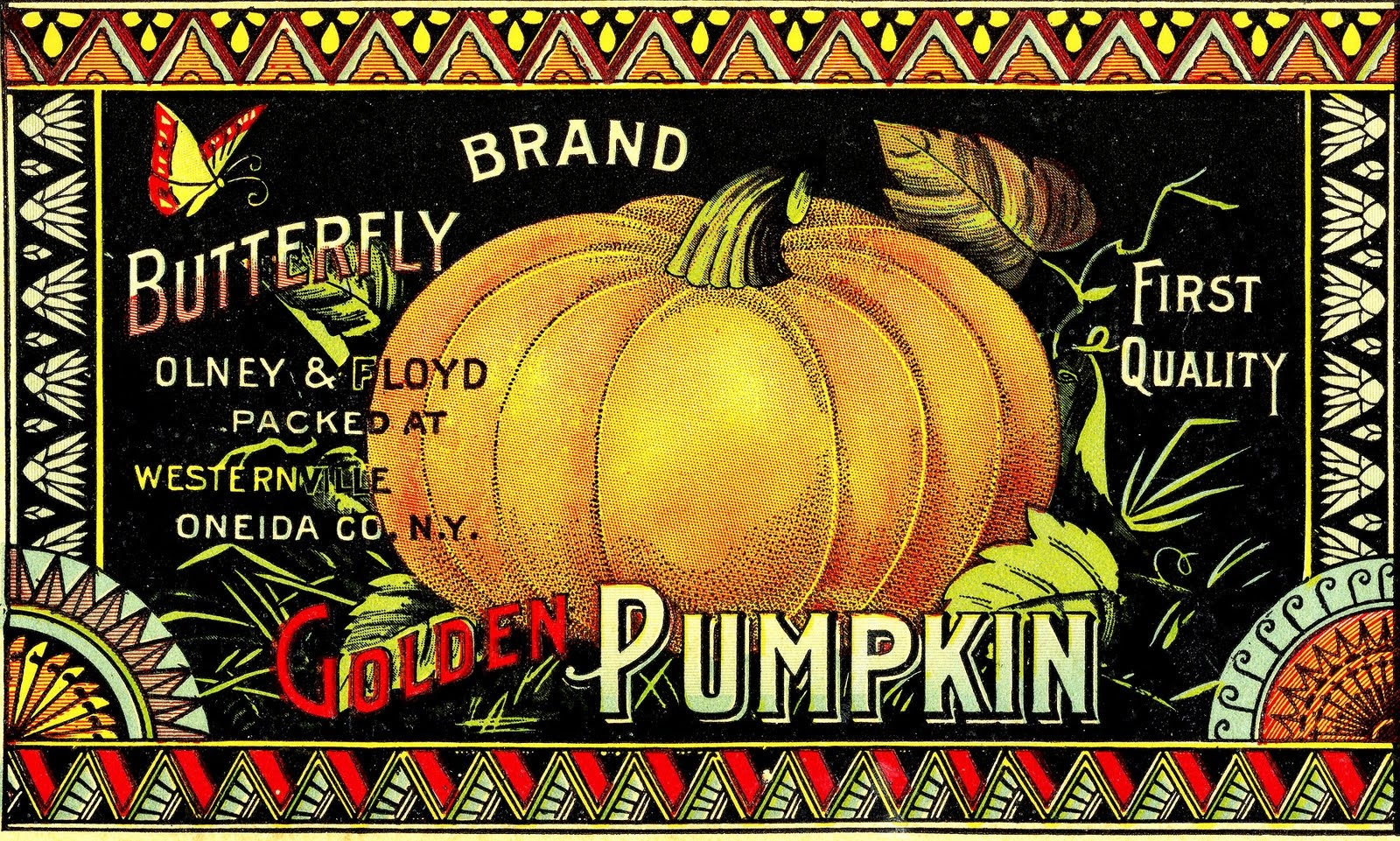 Vintage Halloween Clip Art - Pumpkin Label - The Graphics Fairy - Free Vintage Halloween Printables