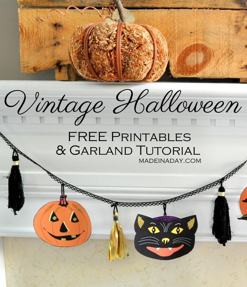 Vintage Halloween Printable Garland - Free Vintage Halloween Printables