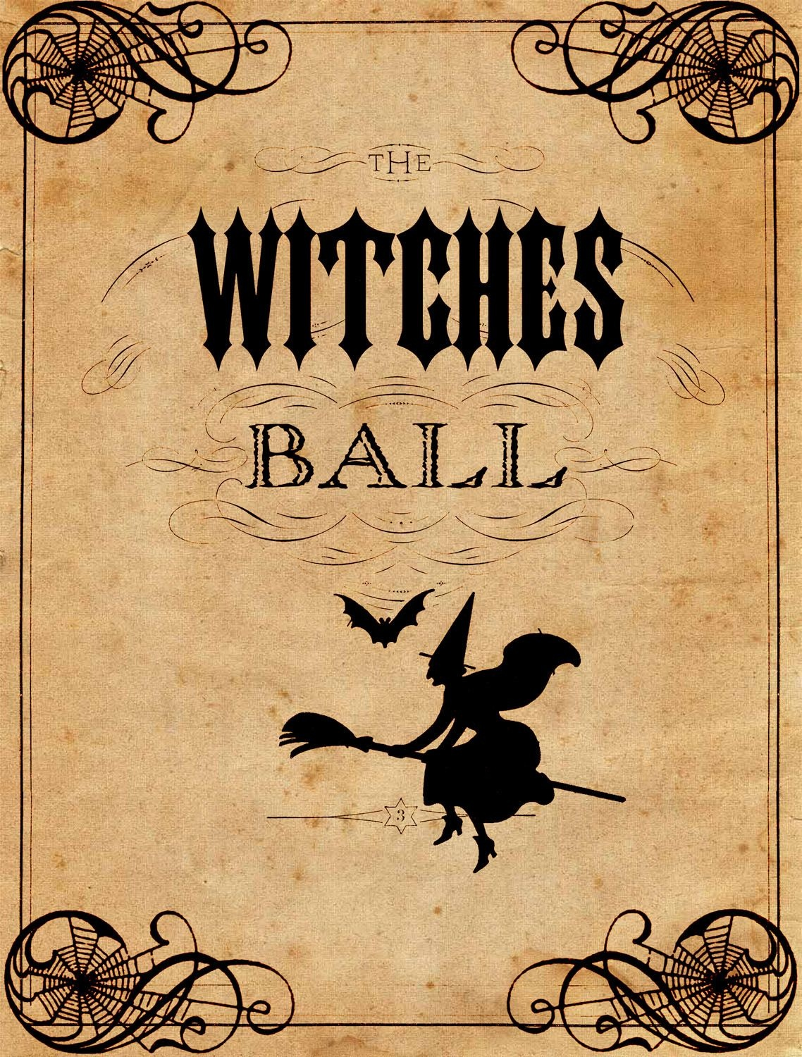 Vintage Halloween Printable - The Witches Ball | Halloween - Free Vintage Halloween Printables