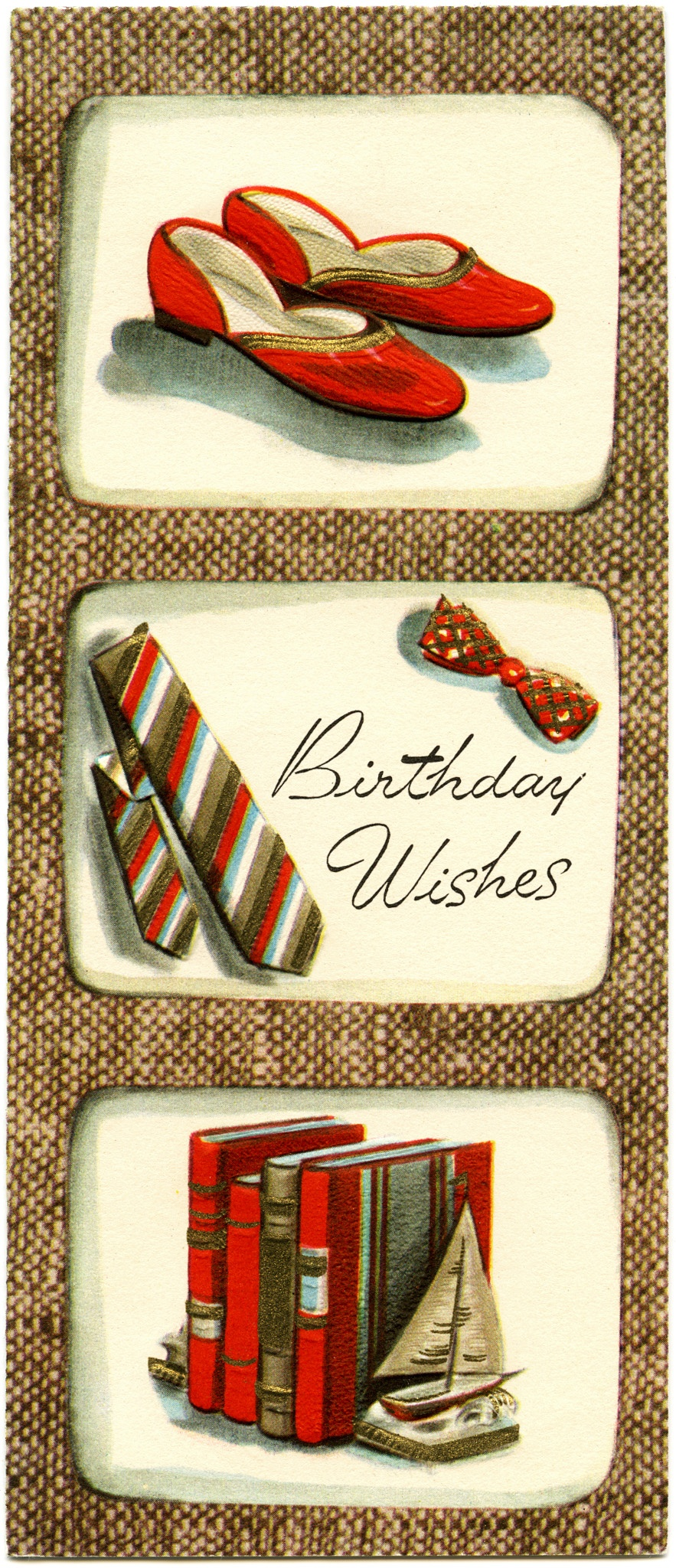 Vintage Masculine Birthday Card - Old Design Shop Blog - Free Printable Russian Birthday Cards
