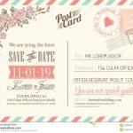 Vintage Postcard Background For Wedding Invitation Stock Vector   Free Printable Postcard Invitations Template