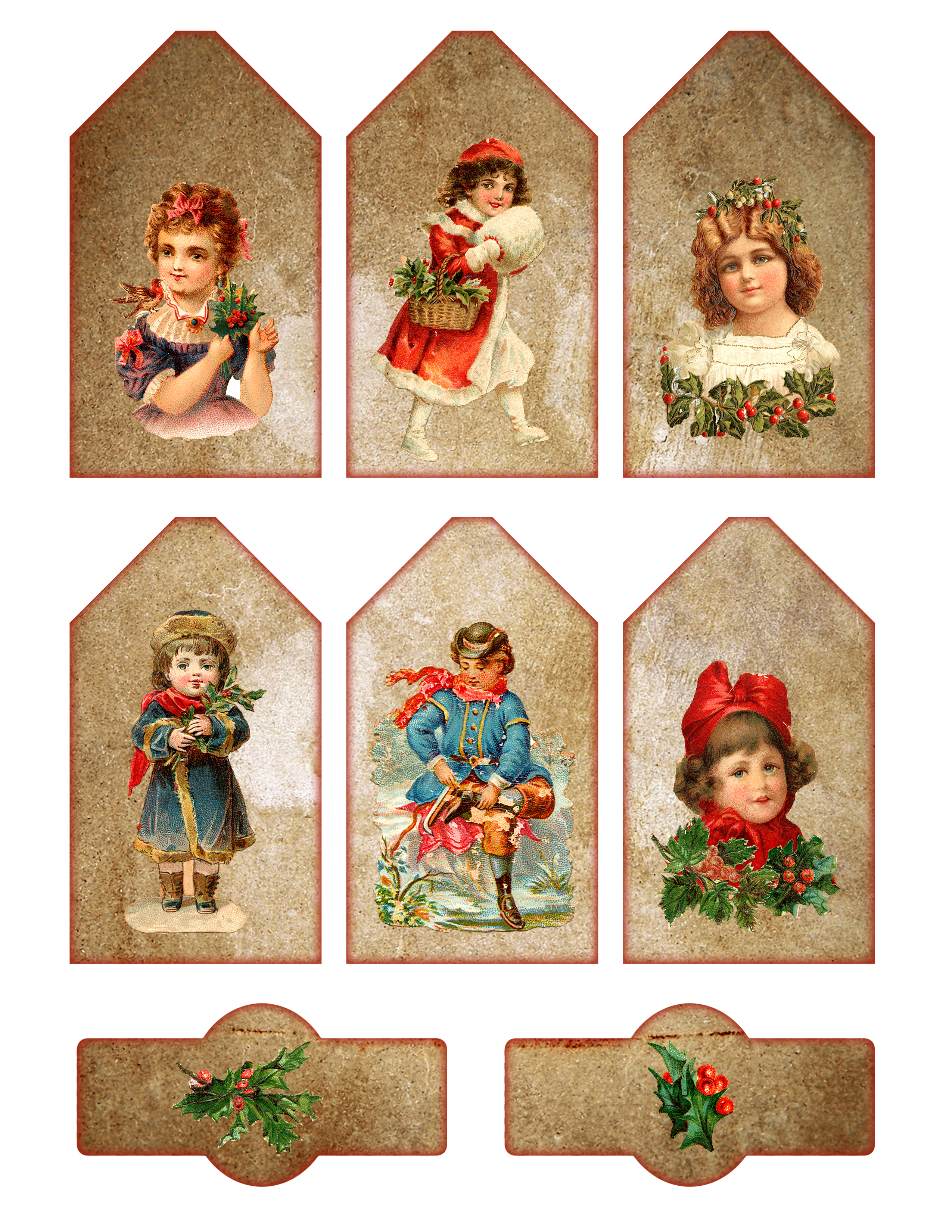Vintage Printable Christmas Tags And Labels - The Graffical Muse - Free Printable Christmas Photo Collage