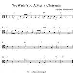 Viola Sheet Music For Christmas | Free Easy Christmas Viola Sheet   Trombone Christmas Sheet Music Free Printable