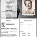 Virgin Mary Memorial Program | Funeral | Memorial Service Program   Free Printable Funeral Program Template